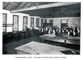 Bootmaking class in the pattern cutting and clicking room, Erskineville Bootmaking School 1909.png