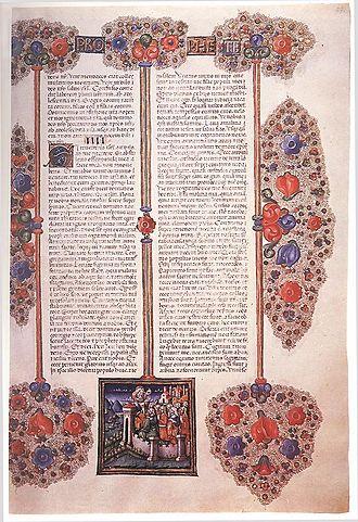 Borso d'Este, Duke of Ferrara - A page of Borso d'Este's Bible.