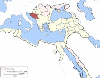 Bosnia Eyalet - Bosnia Eyalet in 1609