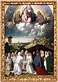 Bottega di dosso e battista dossi, apparizione della madonna col bambino tra i ss. francesco e bernardino ai confratelli della neve, 1530-40 ca. 01.jpg