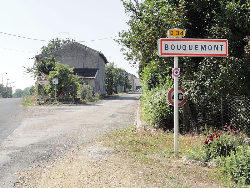 Bouquemont (Meuse) city limit sign