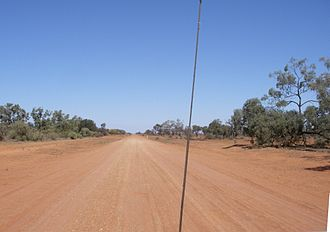 Bourke, New South Wales - The unsealed Bourke-Wilcannia highway links the two towns.
