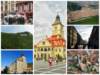 Brașov - Image: Brasov collage