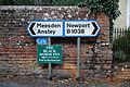 Brent Pelham road signage Hertfordshire England.jpg