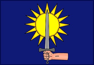 Brian Boru - Banner reputedly used by Brian  of which the Clare GAA colors are based.