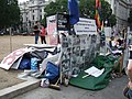Brian Haw's protest camp in Parliament Square - geograph.org.uk - 227990.jpg