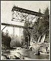 Bridge construction at the Green River Gorge, ca 1914 (MOHAI 5488).jpg