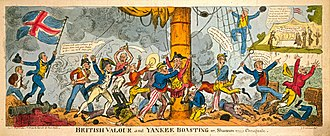 USS Chesapeake (1799) - George Cruikshank portrayed the Americans as hapless and cowardly