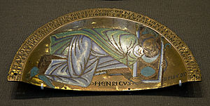 Theobald of Bec - A medieval plaque depicting Henry of Blois, dating from around 1150