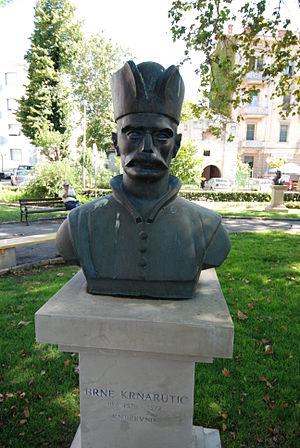 Brne Karnarutić - A statue of Brne Karnarutić in Zadar
