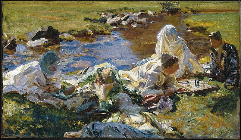 File:Brooklyn Museum - Dolce Far Niente - John Singer Sargent - overall.jpg