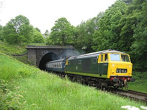 British Rail Class 35 - Number D7076 on the East Lancashire Railway