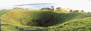 Browns Island (Auckland) - Browns Island crater.