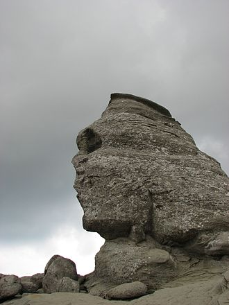 Pareidolia - Image: Bucegi Sphinx Romania August 2007