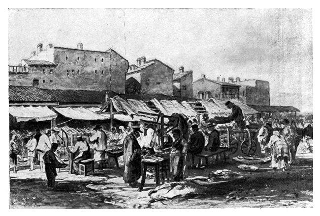 Bucharest market, 1869