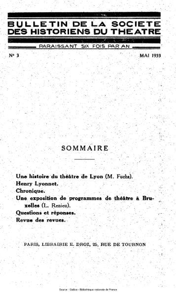 File:Bulletin de la société des historiens du théâtre, année 1, n°3.djvu