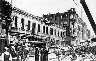 Battle of Białystok–Minsk - Ruins of Minsk – July 1941