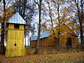 Burbiškio bažnyčia, varpinė.JPG