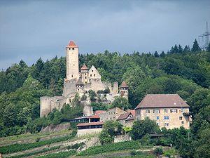 Hornberg Castle (Neckarzimmern) - Image: Burg Hornberg am Neckar