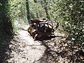 Burnt out car in Bostall Woods - geograph.org.uk - 871596.jpg