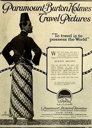 Elias Burton Holmes - Advertisement (1917).