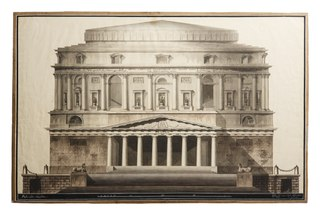 Theater in Roman Style, Elevation of Facade