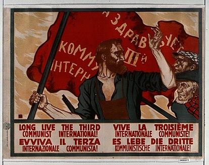 Ca. 1920 poster - Long live the third communist international!.jpg