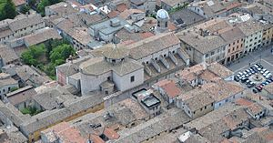 Cagli Cathedral - Aerial view of the cathedral