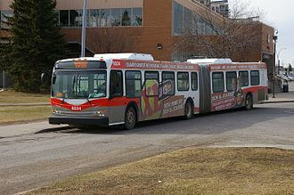 Calgary Transit - Articulated bus