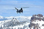 California National Guard Chinooks airlift Marines training in mountain warfare tactics to high elevation landing zones 140328-A-YY327-256.jpg