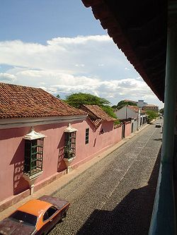 Street in the historic centre of Coro