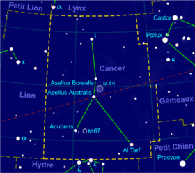 image illustrative de l'article Cancer (constellation)