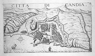 Siege of Candia - Candia and its fortifications, 1651