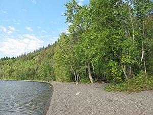Shore area in Canim Beach Provincial Park