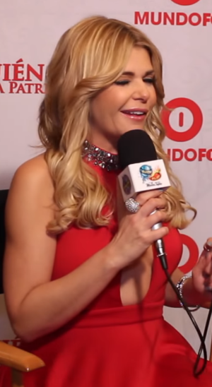 Itatí Cantoral - Cantoral in the presentation of ¿Quién mató a Patricia Soler? on February 2015