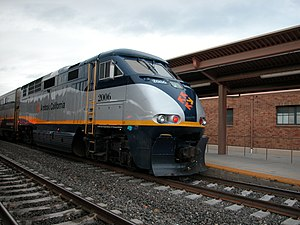 Capitol Corridor train at San Jose Diridon station, December 2005.jpg