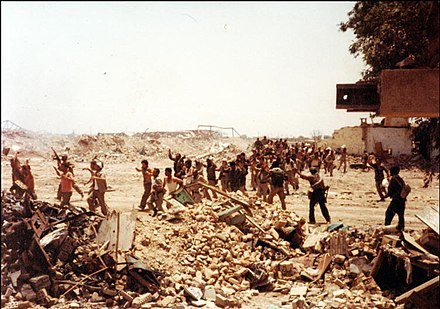 Iraqi soldiers surrendering after the Liberation of Khorramshahr Capture in Khorramshahr.jpg