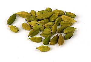 Elettaria cardamomum - Cardamom pods as used as spice
