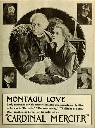 Montagu Love - Cardinal Mercier was the working title for The Cross Bearer (1918)
