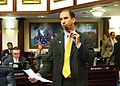 Carey Baker gestures as he outlines the Agriculture and Environmental Protection section of the House budget.jpg