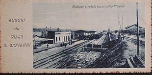 La stazione di Villa San Giovanni e l'approdo del traghetto nel 1906
