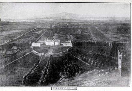 "Early 18th century view of the now demolished Talbot house at Carton Demesne; Talbot grew up here, later renaming it ""Talbotstown"" at the peak of his power. Carton Demesne.jpg"