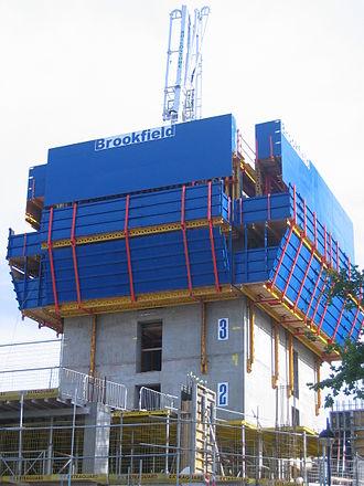 Strata SE1 - The core rising in June 2008.