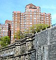 Castle Village and retaining wall from Hudson River Greenway 1 crop.jpg