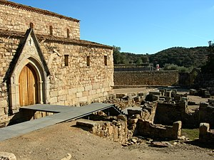 Cathedral of Idanha-a-Velha - The lateral portico of the cathedral