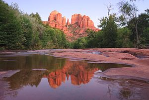 Sedona, Arizona - Cathedral Rock in September 2009, from Red Rock Crossing