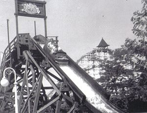 Mill Race (log flume) - Image: Cedar Point Mill Race in 1963