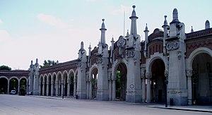 Cementerio de la Almudena - View of the cemetery buildings.
