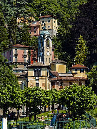 Faggeto Lario - Central Faggeto Lario from a ferry up the lake