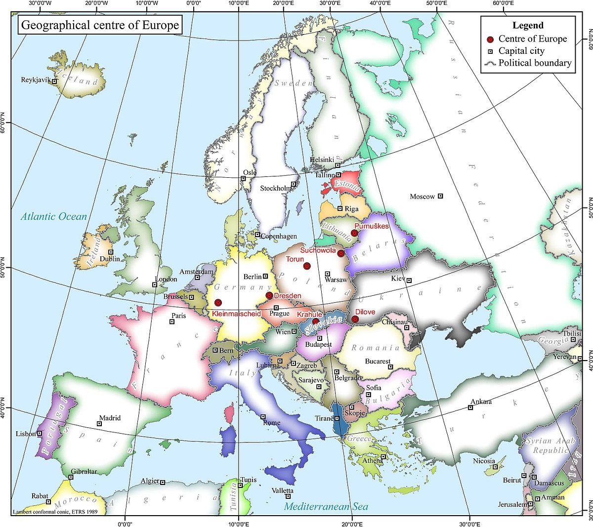 Географический центр Европы — Википедия